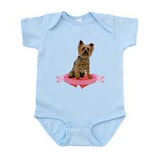 Silky Terrier Valentine Infant Bodysuit