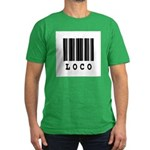 Loco Barcode Design Men's Fitted T-Shirt (dark)