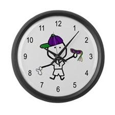 Boy & Mardi Gras Large Wall Clock