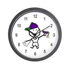 Boy & Mardi Gras Wall Clock