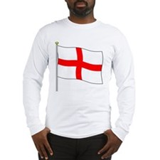 England Flagpole Long Sleeve T-Shirt