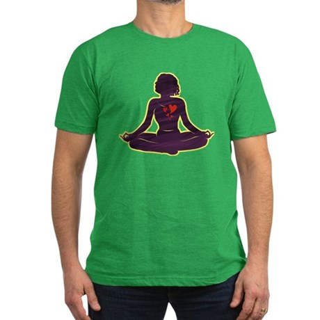 Lovely Yoga Men's Fitted T-Shirt (dark)