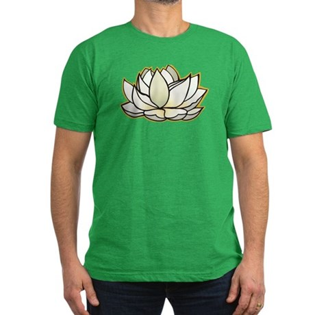 yoga lotus flower Men's Fitted T-Shirt (dark)