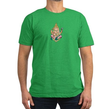 Yoga Ganesh Men's Fitted T-Shirt (dark)