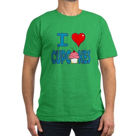 I love Cupcakes! Men's Fitted T-Shirt (dark)