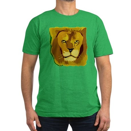 Yellow Eyes Lion Men's Fitted T-Shirt (dark)