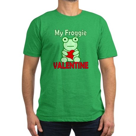 Frog Valentine Men's Fitted T-Shirt (dark)