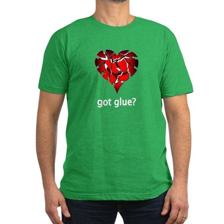 Got Glue? Men's Fitted T-Shirt (dark)