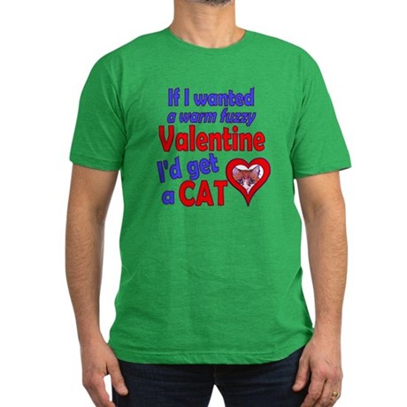 Cat Funny Anti-Valentine Men's Fitted T-Shirt (dar