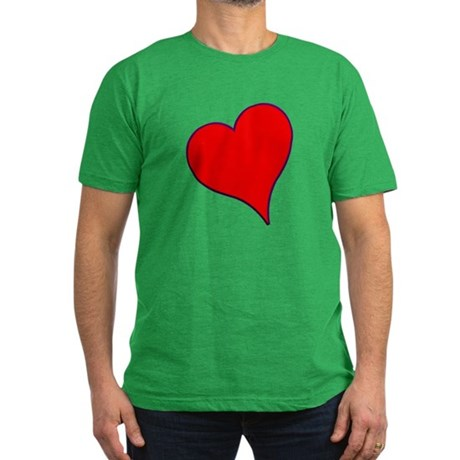 Big Red Heart Valentine Men's Fitted T-Shirt (dark