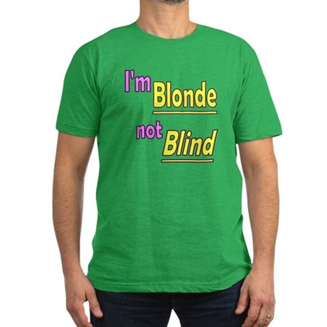 Blonde not Blind Men's Fitted T-Shirt (dark)