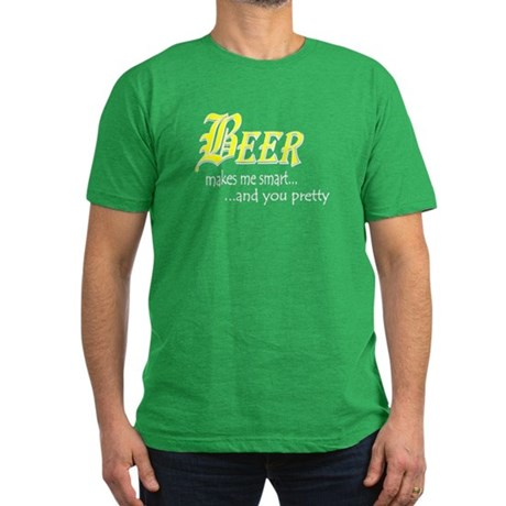 Smart Beer Men's Fitted T-Shirt (dark)