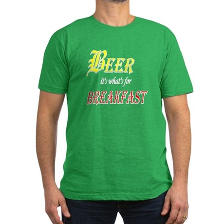Breakfast Beer Men's Fitted T-Shirt (dark)