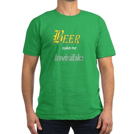 Invisible Beer Men's Fitted T-Shirt (dark)