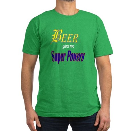 Super Beer Men's Fitted T-Shirt (dark)