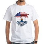 Native American Flag Design Women's Fitted T-Shirt