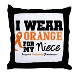 Leukemia Niece Throw Pillow