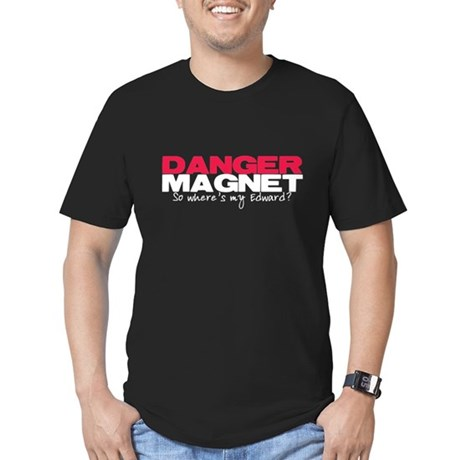 Danger Magnet Edward Men's Fitted T-Shirt (dark)