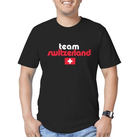 Team Switzerland Men's Fitted T-Shirt (dark)