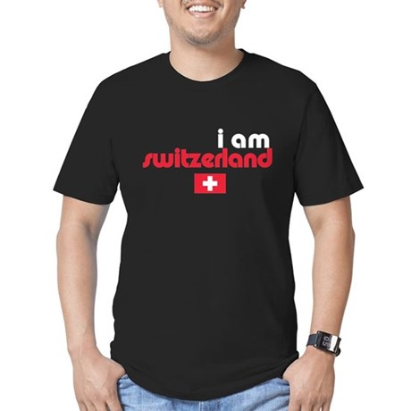 I Am Switzerland Men's Fitted T-Shirt (dark)
