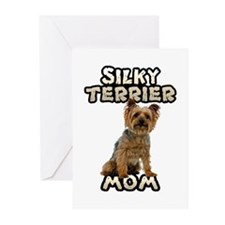 Silky Terrier Mom Greeting Cards (Pk of 20)