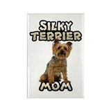 Silky Terrier Mom Rectangle Magnet