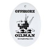 Offshore Oilman Oval Ornament, Oil Rig, Gas