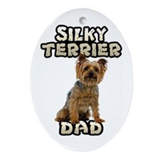 Silky Terrier Dad Ornament (Oval)