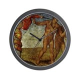 Michelangelo Fall of Man Wall Clock