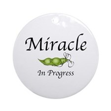 Miracle In Progress Ornament (Round)