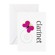 Pretty Clarinet Greeting Card