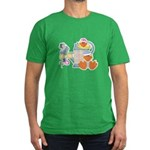 Cute Garden Time Baby Ducks Men's Fitted T-Shirt (