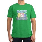 Cute Happy Easter Design Men's Fitted T-Shirt (dar