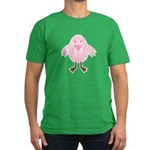 Pink Spotted Easter Chick Men's Fitted T-Shirt (da