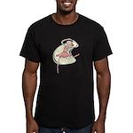 Retro Ballerina Girl Men's Fitted T-Shirt (dark)