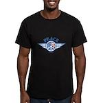 Patriotic Peace Design Men's Fitted T-Shirt (dark)