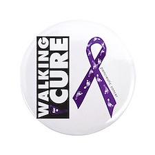 """Purple ribbon for pancreatic 3.5"""" Button (100"""