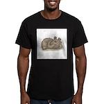 Silly Little Sleeping Bear Men's Fitted T-Shirt (d