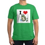 I Heart (Love) Green Olives Men's Fitted T-Shirt (
