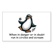 Screaming Penguin Rectangle Decal