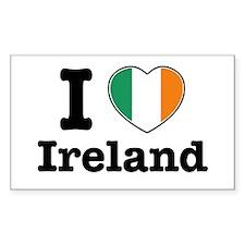 I love Ireland Rectangle Decal
