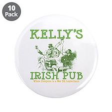 "Kelly's Irish Pub Personalized 3.5"" Button (10 pac"