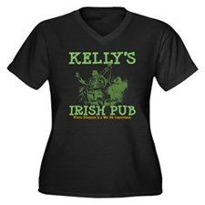 Kelly's Irish Pub Personalized Women's Plus Size V