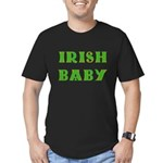IRISH BABY (Celtic font) Men's Fitted T-Shirt (dar