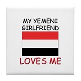 My Zimbabwean Girlfriend Loves Me Tile Coaster