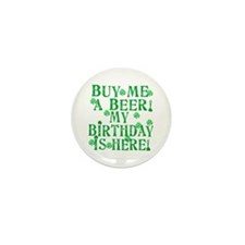 Buy Me a Beer Irish Birthday Mini Button (10 pack)