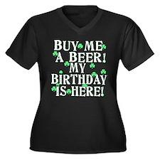 Buy Me a Beer Irish Birthday Women's Plus Size V-N