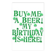 Buy Me a Beer Irish Birthday Postcards (Package of