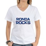 ronda rocks Women's V-Neck T-Shirt