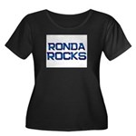 ronda rocks Women's Plus Size Scoop Neck Dark T-Sh